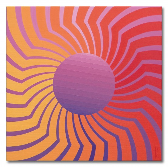 """Power 2"" - op art sun"