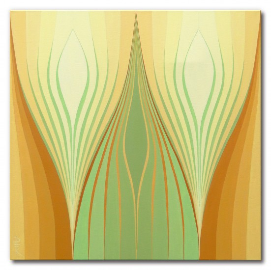 """Harvest"" - symmetric color field painting"