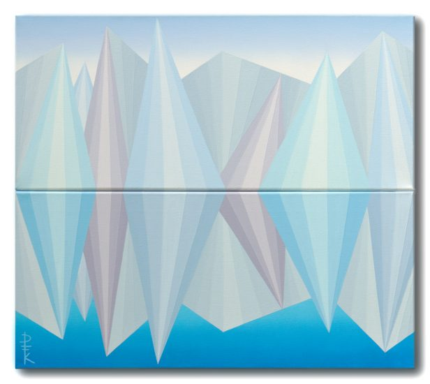 """Iceberg"" - mirror op art painting"